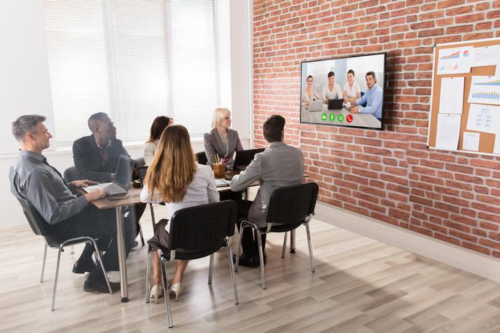テレビ会議の様子のイメージ写真